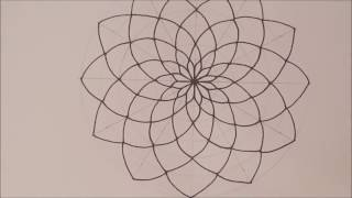 HOW TO DRAW Mandala Basic Step by Step & Tips | Espanol & English | Speed Draw