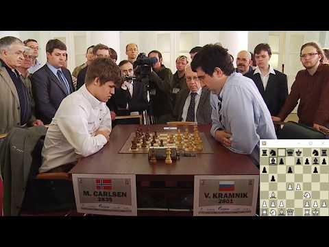 BEAUTIFUL ACTIVE KING FOR PROMOTION!!! Vladimir Kramnik Vs Magnus Carlsen - Blitz Chess 2012