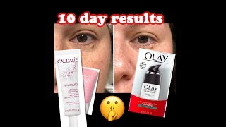 RESULT: OLAY REGENERIST & CAUDALIE 10 day picture results