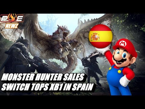 Switch Surpasses Total XB1 Sales in Spain!? Monster Hunter Franchise Sales Compared! | PE NewZ