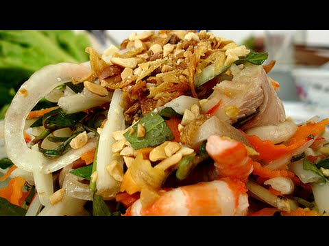 Vietnamese Recipe Lotus Root Salad with Pork and Shrimp GOI NGO SEN Tom Thit