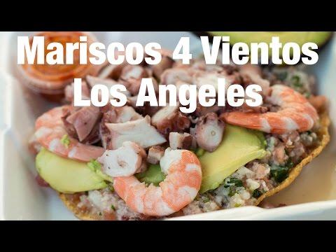 Mexican Seafood Tostadas at Mariscos 4 Vientos, Los Angeles