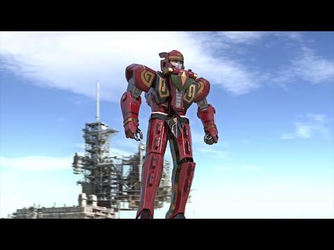 Red dragon thunderzord / Ryuuseioh - animation test megazord CGI