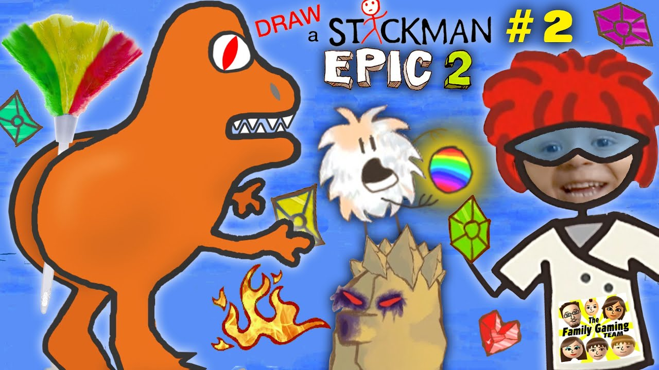 FEATHER BUTT DINOSAUR!! DRAW A STICKMAN EPIC 2