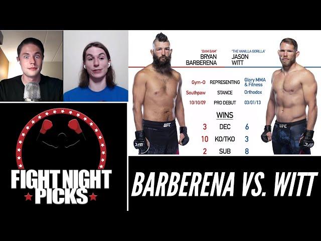 UFC Fight Night: Bryan Barberena vs. Jason Witt Prediction