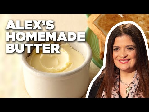 How to Make HOMEMADE BUTTER with Iron Chef Alex Guarnaschelli   Food Network