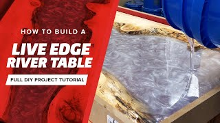 How to make a live edge river table with epoxy resin