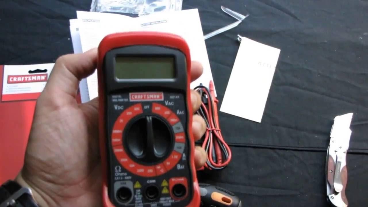 craftsman digital multimeter 82141 manual