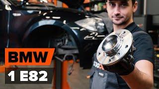 Hogyan cseréljünk Kerékcsapágy készlet BMW 1 Coupe (E82) - video útmutató
