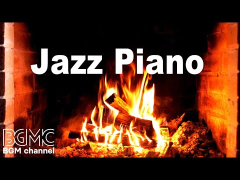 Relaxing Jazz Piano With Fireplace - Slow Cafe Jazz Piano For Sleep, Study