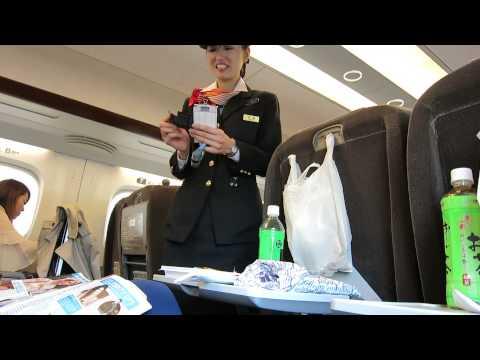 Bullet Train Shinkansen Nozomi Tokyo-Kyoto Green First Class