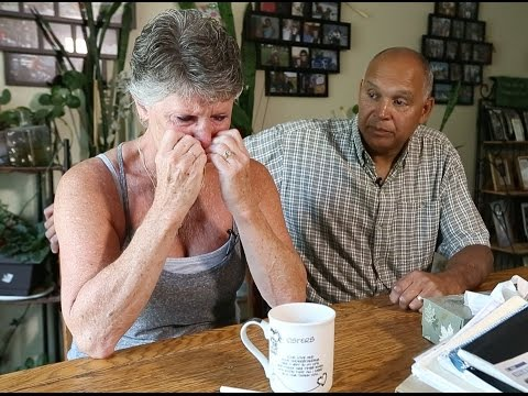 Pat and Suzanne Jacobs listen to the last voicemail they have from their son