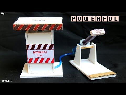 Homemade POWERFUL hydraulic Jack - DIY hydraulic lift