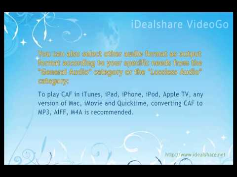 How to Convert CAF to AIFF, M4A, MP3, WAV on Mac or Windows?