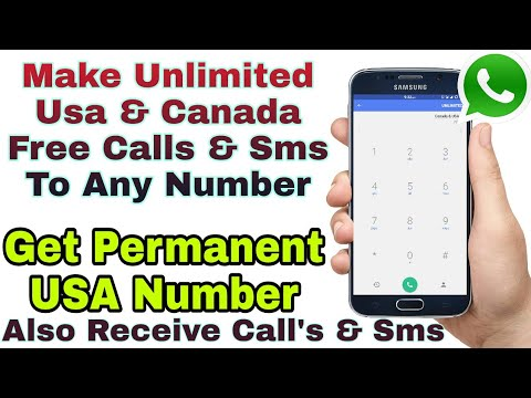 How To Get USA & UK Number Forever |  Use Whatsapp, Make & Receive Calls & Sms.