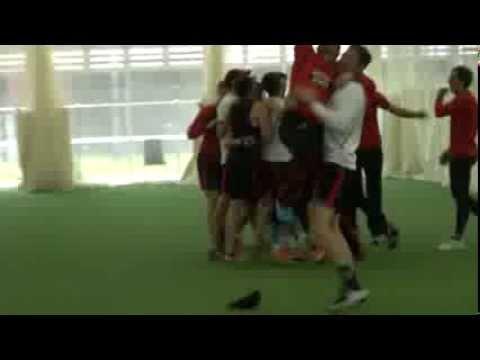 Redbacks celebrate successful fielding challenge