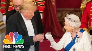 Queen Elizabeth II Toasts To President Donald Trump At Buckingham Palace Dinner   NBC News