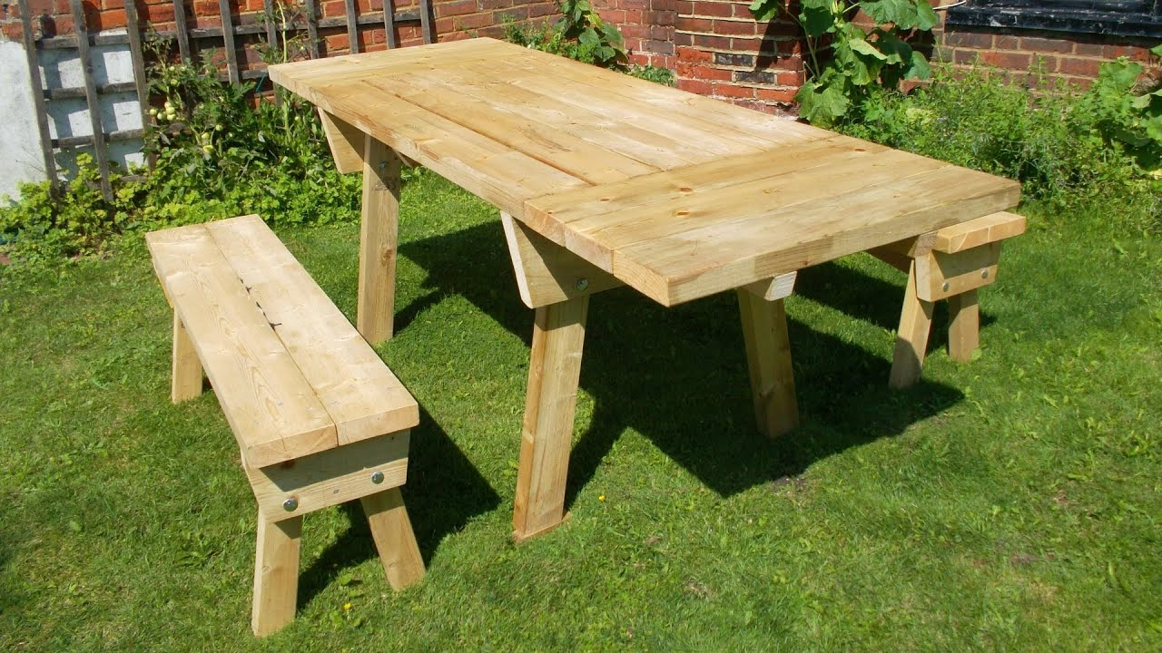 Picnic Table With Detached...