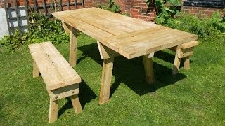 Extendable picnic table project