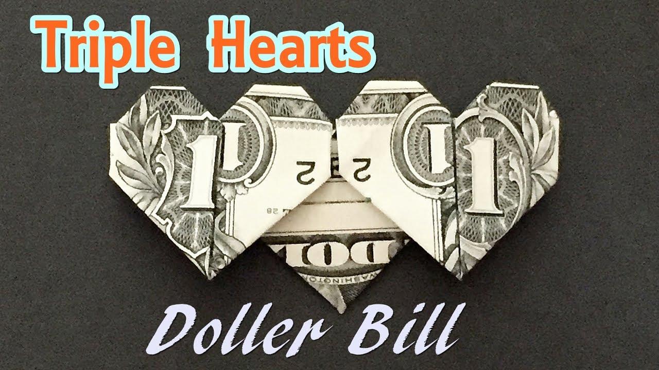 Easy Money Origami Heart Folding Instructions - How to Make Dollar ...   720x1280