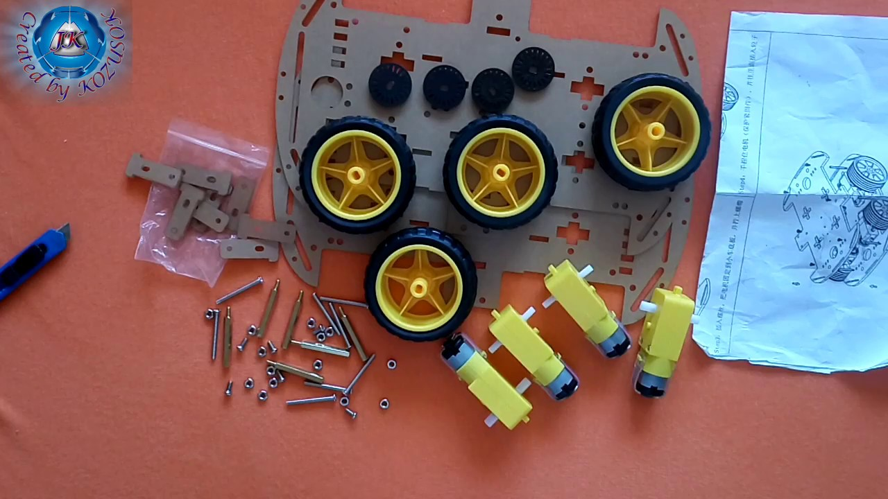 DIY 4WD Smart Robot Car Chassis Kit-Banggood com