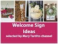Welcome Signs Ideas - Crafts Ideas to Make and Sell - DIY Home Decor Inspo