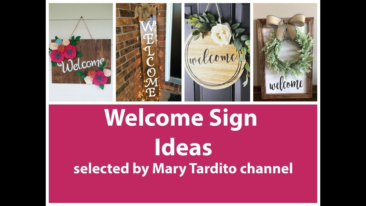 Welcome Signs Ideas Crafts Ideas To Make And Sell Diy Home Decor