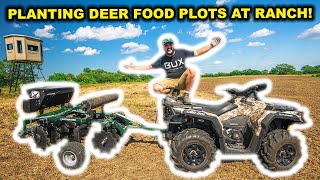 My FIRST TIME Planting FOOD PLOTS for DEER at My ABANDONED RANCH!!!
