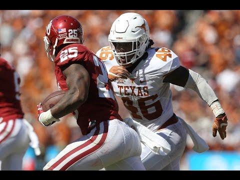 Malik Jefferson Texas vs Oklahoma