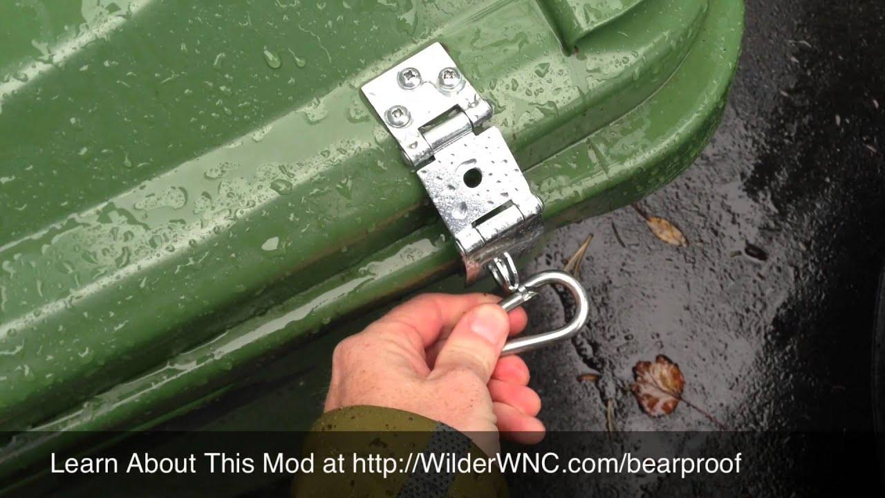 Bear Proof Trash Can Diy Mod Youtube