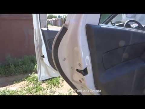 Lada Granta - установка дверных уплотнителей.