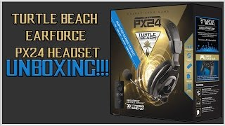 turtle beach ear force px24 headset unboxing