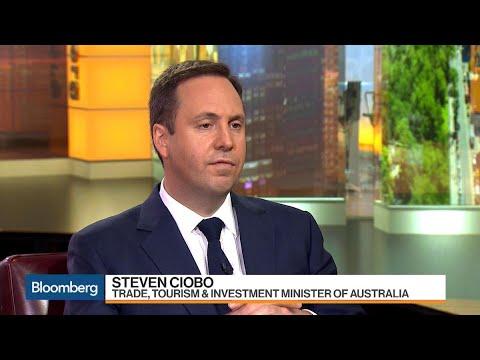 Australia's Ciobo Says 'Door Open' for U.S. to Rejoin TPP