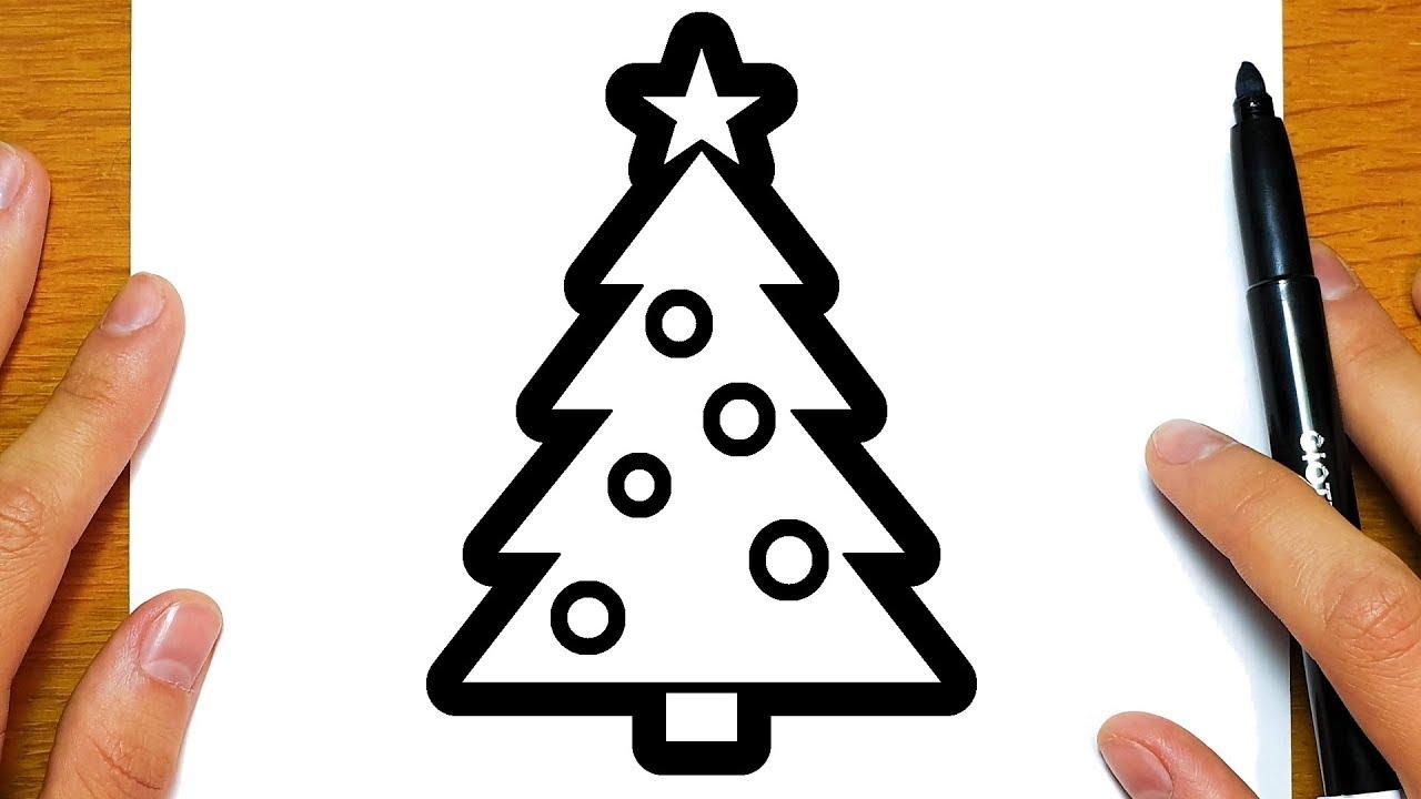 Albero Di Natale Disegno Da Colorare.Come Disegnare Un Albero Di Natale Per Natale Disegni Facili Ed Educativi Per Bambini Youtube