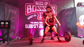 Stefanie Cohen - 1st Place Raw Overall 490 kg/1080.3 lbs Total - Boss Of Bosses 4