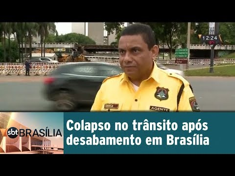 Colapso no trânsito após desabamento em Brasília