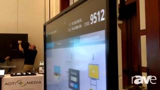 E4 AV Tour: Sharp Professional Features Its New PN-L703W Wireless, Interactive AQUOS Board
