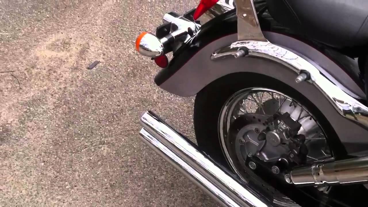 hight resolution of  98 shadow 1100 aero vance hines longshots youtube