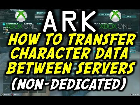 ARK: Survival Evolved Xbox How To Move Your Character To Different Servers