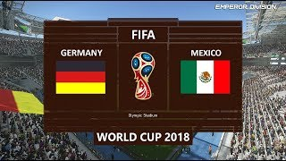 PES 2018 | Germany vs Mexico | FIFA World Cup 2018 PC Gameplay