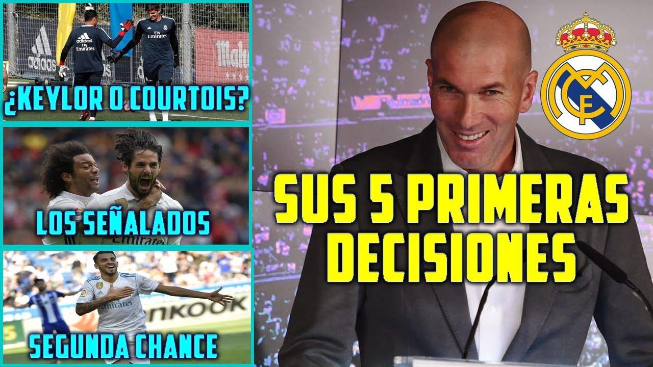 Con Zidane, Isco, Marcelo y Navas van de inicio en el Real Madrid