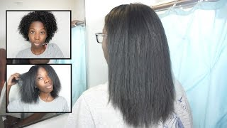 how i straighten my natural hair