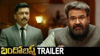 Bandobast Telugu Movie  New Trailer | Surya, Mohanlal, Arya