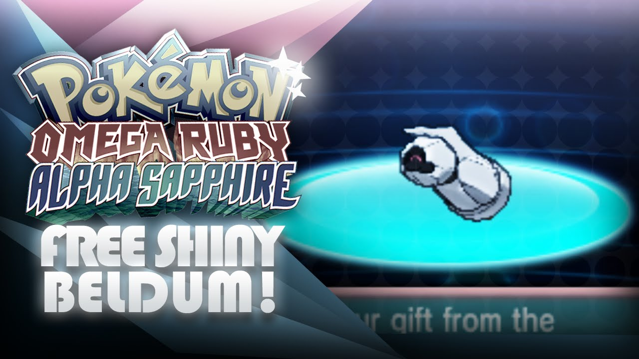 Pokemon Omega Ruby Alpha Sapphire How To Get Shiny Beldum Mystery Gift Mootypwns