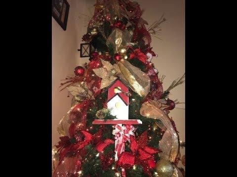 Decoracion arbol de navidad 2017 2018 con cintas y - Decoracion navidad moderna ...