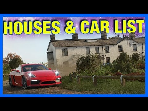 Forza Horizon 4 Gameplay : CAR LIST, MAP SIZE, DRIFTING, HOUSES & MORE!!