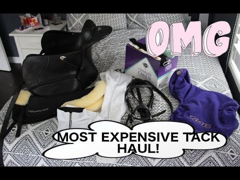 MY MOST EXPENSIVE TACK HAUL EVER! NEW SADDLE! NEW HELMET! MICKLEM BRIDLE! SHOW GEAR!
