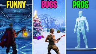 WINTER IS COMING TO SEASON 7! FUNNY vs BUGS vs PROS! Fortnite Funny Moments