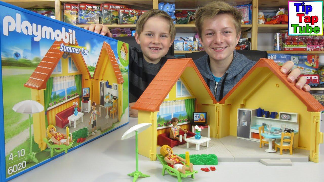 Playmobil summer fun aufklapp ferienhaus k che wohnzimmer for Wohnzimmer playmobil