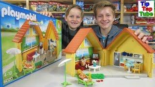 Playmobil Summer Fun Aufklapp Ferienhaus Küche Wohnzimmer Spielzeug Unboxing TipTapTube Kinderkanal